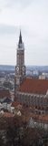 High Angle View of a Cathedral  Cathedral of St Martin  Landshut  Lower Bavaria  Bavaria  Germany