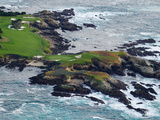 Golf Course on an Island  Pebble Beach Golf Links  Pebble Beach  Monterey County  California  USA