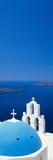 High Angle View of a Church  Firostefani  Santorini  Cyclades Islands  Greece