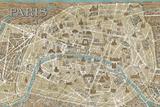 Monuments of Paris Map - Blue