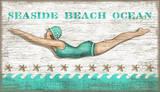 Diving Girl Vintage