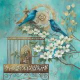 Blue Birds and Dogwood
