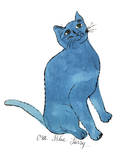 """Cat From """"25 Cats Named Sam and One Blue Pussy"""", c. 1954 (One Blue Pussy) Reproduction d'art par Andy Warhol"""