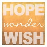 Hope Wonder Wish Orange