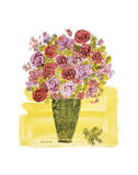 (Stamped) Basket of Flowers  1958