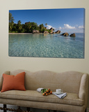 Anse Source d'Argent Beach, La Digue Island, Seychelles Toile Murale Géante par Michele Falzone