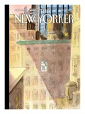 On His Way - The New Yorker Cover  March 21  2011