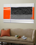 Orange and Black Toile Murale Géante par NaxArt
