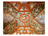 Pergola with Vine  Winged Cupid and Birds  Painted Vault  Renaissance Fresco  C1595