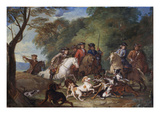 Wolf Hunting  Oil Sketch  C1720-23