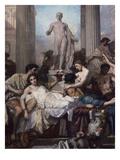 Detail  Les Romains De La Decadence (The Romans of the Decadence)  1847