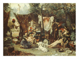 Behind the Curtain  Circus Entertainers Resting Between Acts  1880
