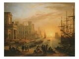 Port De Mer Au Soleil Couchant (Sea Port with Setting Sun)  1639