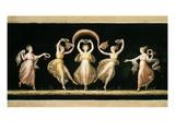 Dancers  Tempera