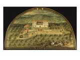 Villa La Peggio  Tuscany  Italy  from Series of Lunettes of Tuscan Villas  1599-1602