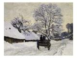 La Charrette  Route Sous La Neige À Honfleur  Cart  the Honfleur Road under Snow