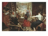 Las Hilanderas (The Spinners) or La Fabula De Aracne (Fable of Arachne)  1657-60  86X113In