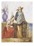 Mexican Women  Watercolour by Mathilde De La Borde  1835