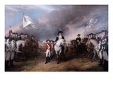 Surrender of General Lord Cornwallis at Yorktown  19 October 1781  Painted 1820