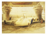 Temple of Edfu  View from the Gate  Lithograph  1838-9