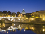Saint Peter's Basilica and Ponte Vittorio Emmanuele Ii over the Tiber