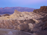 Rugged  Ridged Landscape and Mountains at Zabriskie Point
