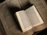 William Tyndale's New Testament Sits on a King James Bible from 1611