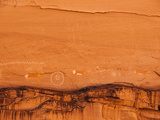 Ancient Navajo Petroglyphs on the Cliffs at Canyon De Chelly