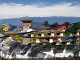Prayer Flags and Chortens on the Dochula Pass in Wangduephodrang