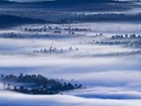 Morning Fog Hangs over Saranac Lake Canoe Area