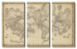 Johnson's Map of the World Tableau multi toiles
