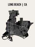 Long Beach Reproduction d'art par Mr City Printing