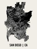 San Diégo Reproduction d'art par Mr City Printing