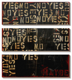 Yes, No, Maybe Tableau multi toiles par Erin Ashley
