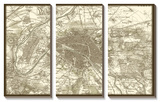 Sepia Map of Paris