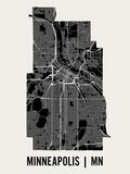Minneapolis Reproduction d'art par Mr City Printing