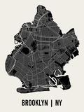 Brooklyn Reproduction d'art par Mr City Printing