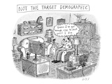 A white  middle-aged male is deemed: not the target demographic In his li… - New Yorker Cartoon