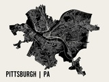 Pittsburgh Reproduction d'art par Mr City Printing