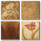 Tulip Manuscript II Tableau multi toiles par Elizabeth Jardine