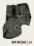 La Nouvelle-Orléans Reproduction d'art par Mr City Printing