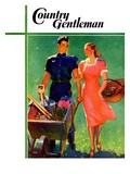 """Pushing Her Wheelbarrow "" Country Gentleman Cover  April 1  1938"