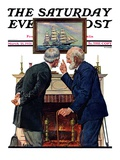 """""""Old Salts """" Saturday Evening Post Cover  March 21  1931"""