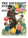 """Balloonman "" Saturday Evening Post Cover  May 9  1931"