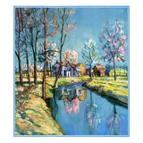 """""""Landscape of Farm in Springtime """"May 1  1932"""