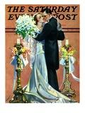 """Bridal Couple Dancing "" Saturday Evening Post Cover  June 6  1931"