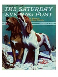 """Hound Dog "" Saturday Evening Post Cover  December 9  1939"