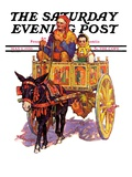 """Gypsy Wagon "" Saturday Evening Post Cover  May 2  1936"