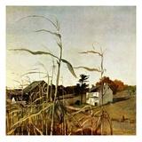 """Autumn Cornfield,""October 1, 1950 Giclée par Andrew Wyeth"