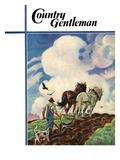 """Horse-Drawn Plow "" Country Gentleman Cover  March 1  1939"
